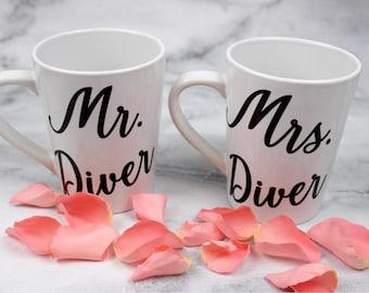 Mr. And Mrs. Engagement Wedding Mugs