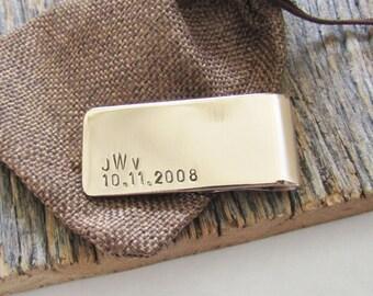 Monogram Money Clip Monogrammed Gift Custom Money Clip Personalized Wallet Clip Gift for Him Christmas Gift for Groomsmen Wedding Money Clip