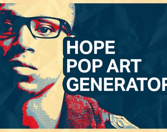 Hope Pop Art Poster Generator