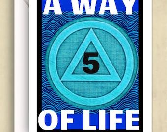 12 step card etsy