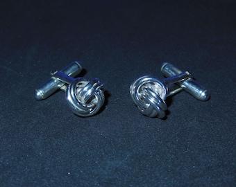 Love Knots Cuff Links In Sterling Silver