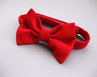 SALE Boys Red Bow Tie // toddler bow tie boys adjustable bow tie velcro bow tie baby accessories - Baby Blake Bow Tie