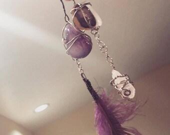 Purple Feathered Amethyst