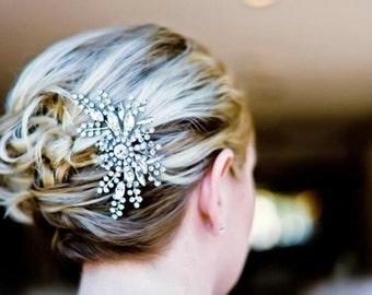 Bridal Hair Comb, Vintage Style Wedding Hair Comb, Crystal Hair Comb, Wedding Hair Accessories, Art Deco Rhinestone Bridal Hair Comb, FANCY