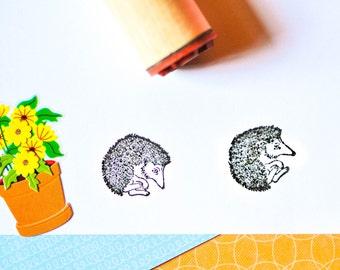 Cuddly Hedgehog Rubber Stamp