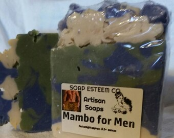 Mambo for Men/Father's Day/Soap Bar/Artisan Soap/One of a Kind/