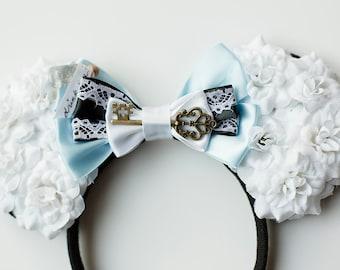 Inspired Alice in Wonderland Rose Mouse Ears
