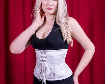 Deluxe reversible underbust Steampunk clothing - Medieval underbust lingerie for victorian costume and cosplay