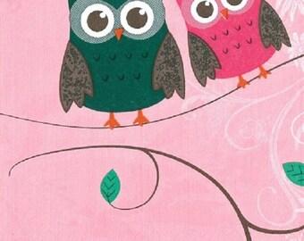 181 NAPKIN OWLS COUPLE