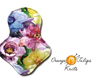 "Cloth Pad 9"" MODERATE Aqua Flowers"