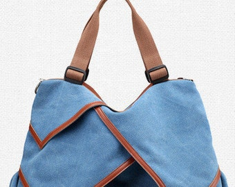 Canvas Handbag with Adjustable Straps