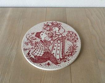 June porcelain platter – Bjørn Wiinblad – 3013-6