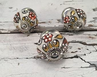 Tomato Knobs, Decorative Pull Knob, Craft Supply, Furniture Upgrade Ceramic Drawer Pulls, Home Improvement Cabinet Supplies