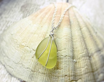 Seaham Collection - Rare Yellow Sea Glass Necklace