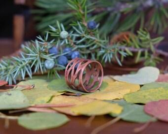 Copper Meandering Stream Ring