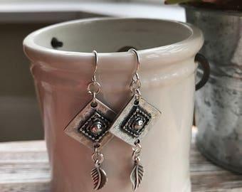 Sienna Boho Earrings / Antique Silver Metal / Bohemian Jewellery/ Earrings / Boho / Gift / Birthday / Mothers Day