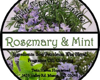 Rosemary Mint Scented Candles