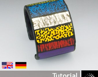 "Polymer Clay PDF Tutorial ""Backfilled Cuff Bracelet"""
