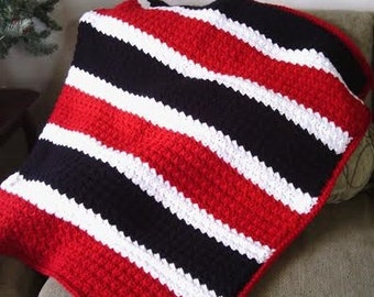 CROCHET PATTERN - It's Great to Be a Grenadier Slanted Shell Afghan - Permission to Sell Items