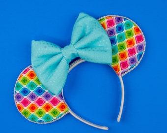 Colorful Mouse Ear Headband
