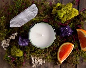 Onyx No. 1 - Vanilla, Clove, Amber, Orange, and Sandalwood Scented Soy Candle