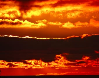Fire skies In Acrylic Glass Print