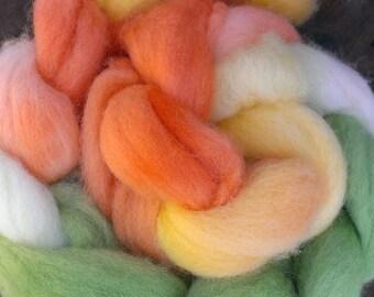 Spring Meadow, Shetland wool top / roving