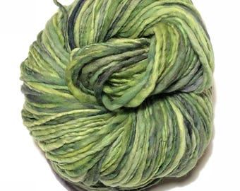 Handspun Merino wool yarn. Single ply. worsted weight.  4oz. 188 yards. Knit. Crochet. Felt.