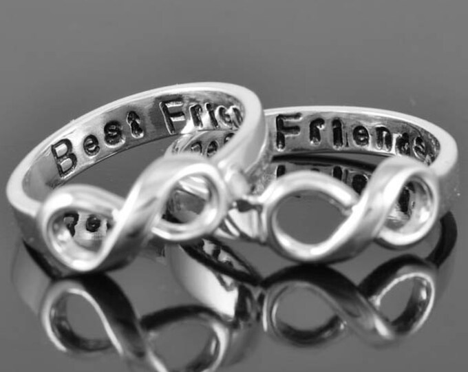 best friend ring, infinity ring, knot ring, promise ring,personalized ring, friendship ring, sisters ring, bridesmaid gift, Engraving Ring