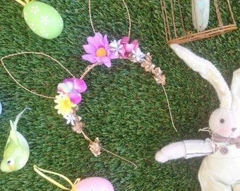 Easter Rabbit Ears Floral Headband