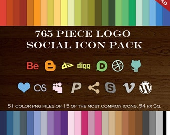 HUGE Social Media Icon Package - 765 Blog Button Icons - Transparent Social Network Buttons Wordpress Blogger Paypal Skype Icon Vimeo Icons