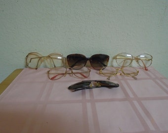 Vintage Lot of 6 1950's Eye Wear Glasses / Real Cool !