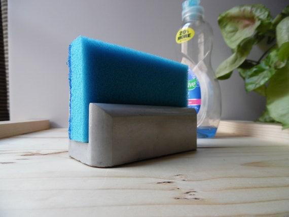 Beton Schwammhalter Schwammhalter Waschbecken Schwammhalter, Beton Dekor,  Küche Spüle Schwammhalter, Kompakte Schwammhalter, Waschbecken Caddy