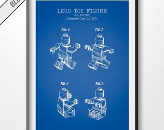 LEGO MAN patent print, lego poster, lego blueprint, lego illustration, lego wall art, lego decor, lego printable, lego toy, lego birthday