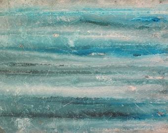 Original Abstract Ocean Painting Blue Green Abstract Art Beach Home Decor Wall Art