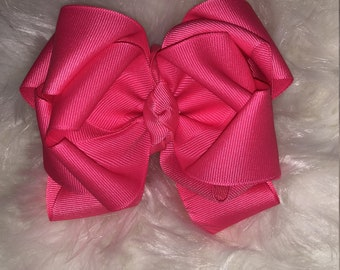 hot pink triple stacked bow