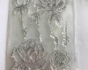 Clear Stamp Set 'Rose'