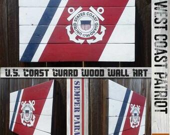 U.S. Coast Guard Vintage Style Wall Art