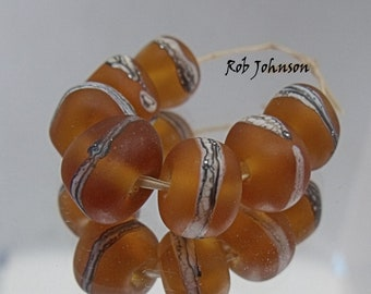 Cider Rocks, Artisan Lampwork Glass Beads, SRA, UK