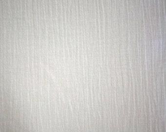 "White Cotton Gauze Fabric 52"" Wide Per Yard"