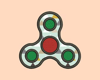 Fidget Spinner Applique designs 9 Size Instant Download 8 Formats machine embroidery pattern