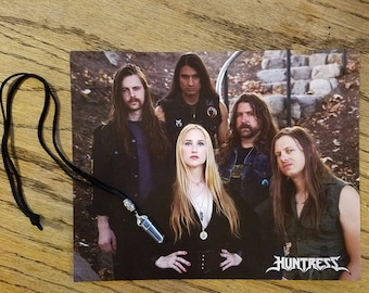 SALE! Huntress Signed Photo, Quartz Crystal Necklace & Guitar Picks