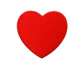 Red Heart Embroidered Applique Iron on Patch