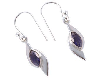 Iolite 92.5 sterling silver earring