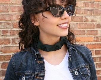 Forest Green Choker - Gift For Her - Hipster Necklace - Silk Choker - Green Isabela Choker. 10