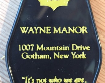 Batman Inspired WAYNE MANOR keytag