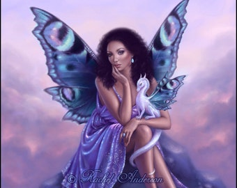 Fairy & Dragon Art Print Evanescent