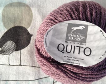 WOOL QUITO Blueberry - white horse