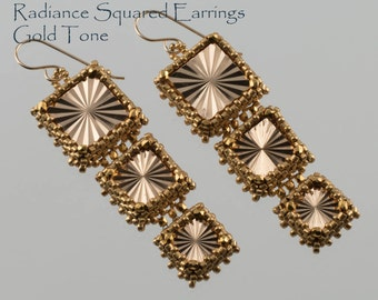 Radiance Squared Earrings Kit in Metalic Gold