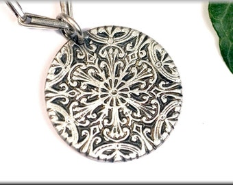 "Pendant ""Frost pattern"" made of 999 fine silver"